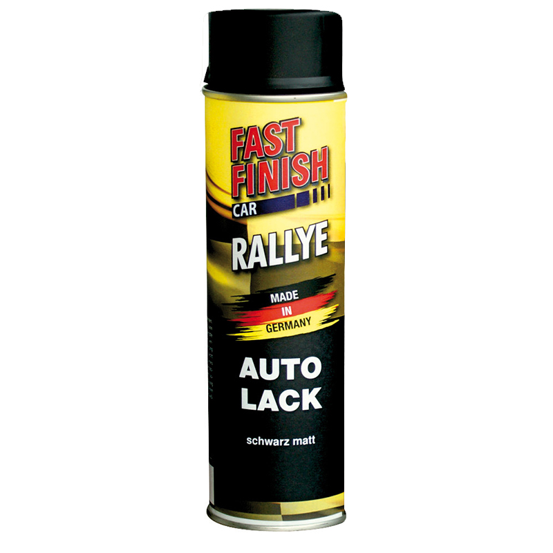 Autolack Rallye Lack Spraydose 500ml Fast Finish schwarz matt 1 Stück