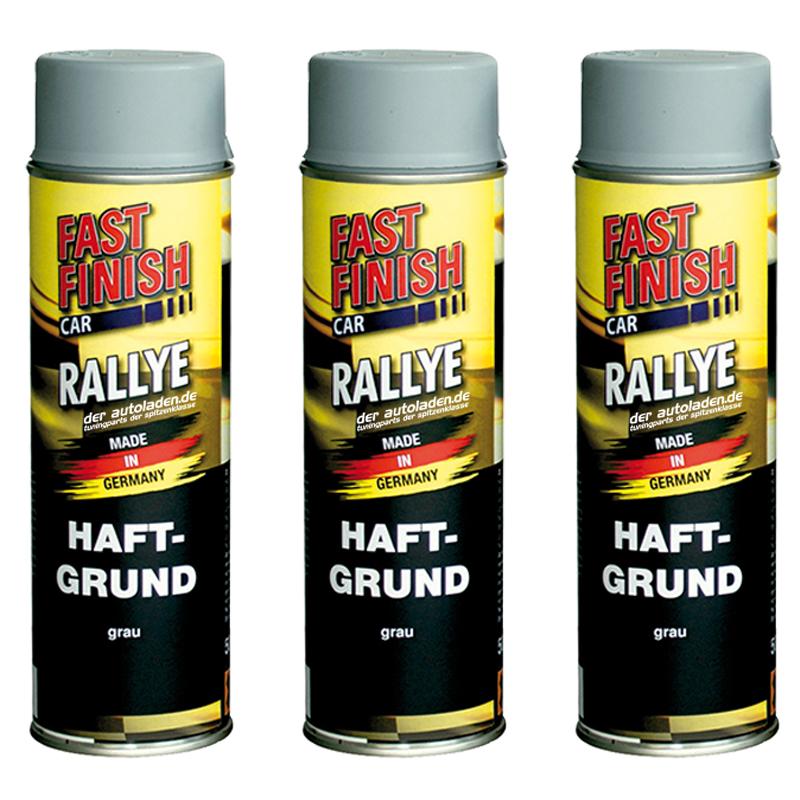 Haftgrund Rostschutz Lack Autolack Spraydose 500ml Fast Finish grau 3 Stück