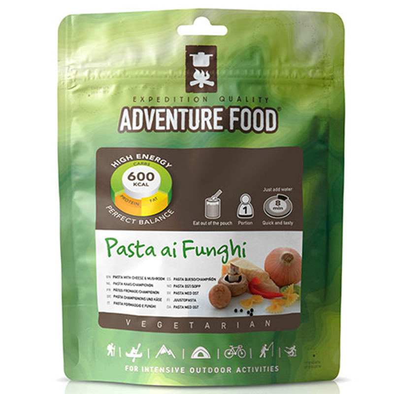 Adventure Food Pasta ai Funghi Pasta in Pilz-Käsesasoße Outdoor Fertiggerichte