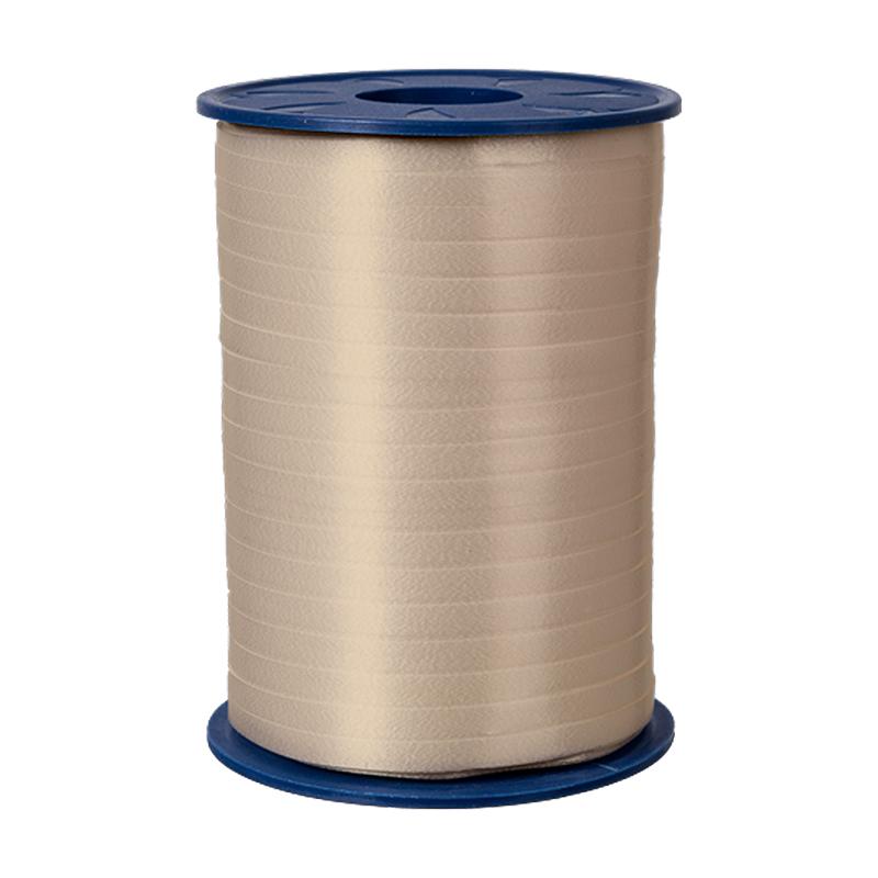 500m Ringelband 5mm Spule Kräuselband Geschenkband Polyband Dekoband Creme
