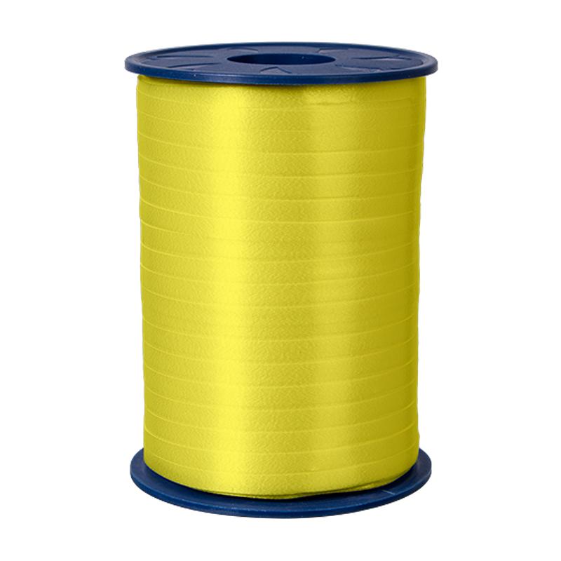 500m Ringelband 5mm Spule Kräuselband Geschenkband Polyband Dekoband Gelb