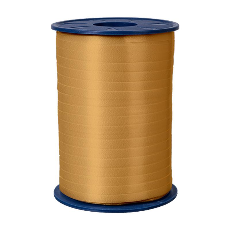 500m Ringelband 5mm Spule Kräuselband Geschenkband Polyband Dekoband Gold