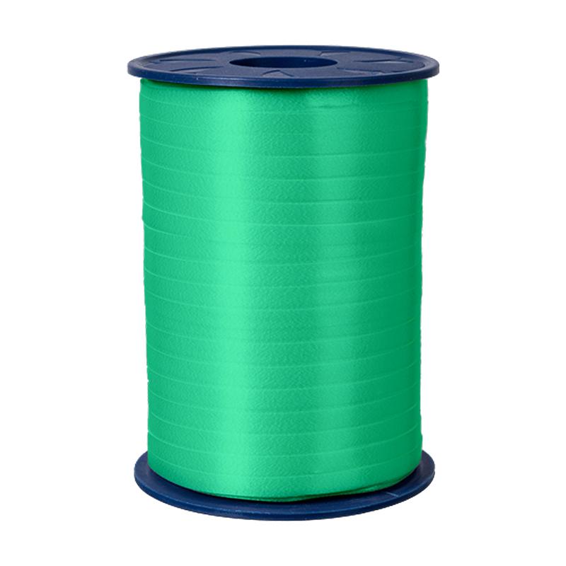 500m Ringelband 5mm Spule Kräuselband Geschenkband Polyband Dekoband Grün