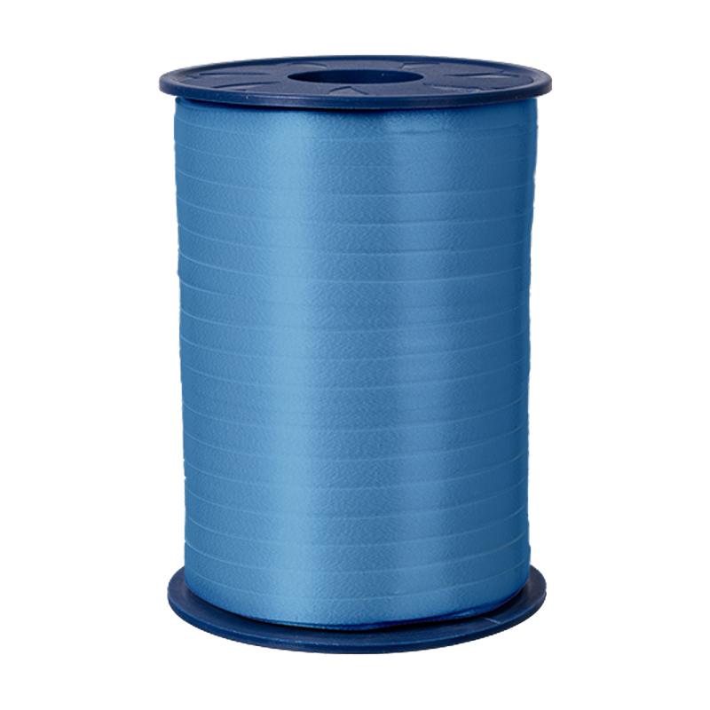 500m Ringelband 5mm Spule Kräuselband Geschenkband Polyband Dekoband Hellblau