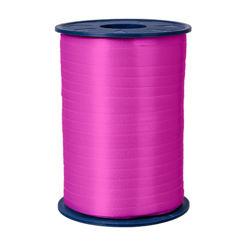 500m Ringelband 5mm Spule Kräuselband Geschenkband Polyband Dekoband Pink