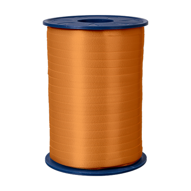 500m Ringelband 5mm Spule Kräuselband Geschenkband Polyband Dekoband Orange
