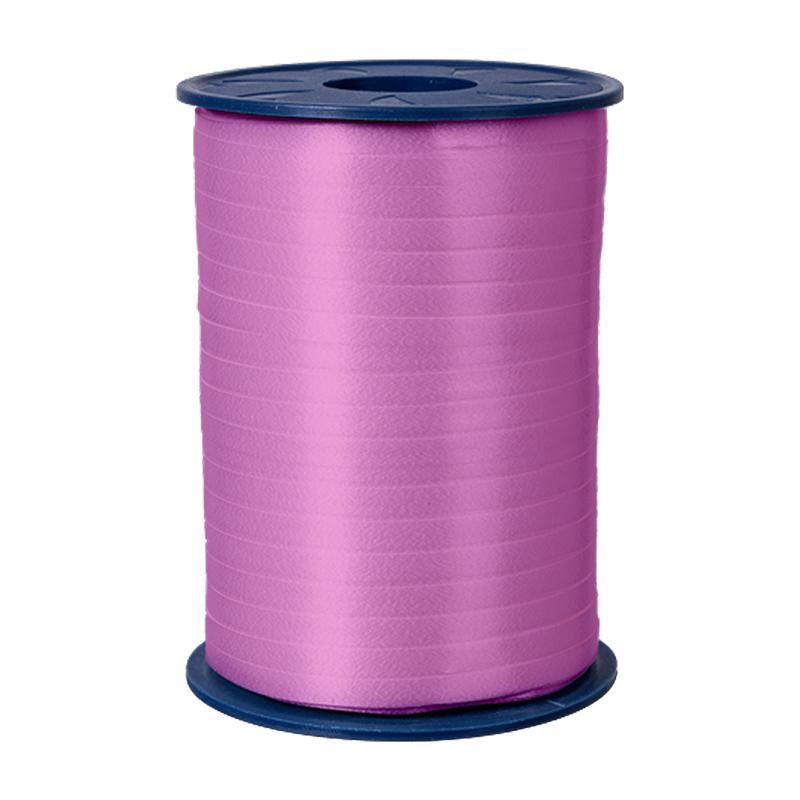 500m Ringelband 5mm Spule Kräuselband Geschenkband Polyband Dekoband Rosa