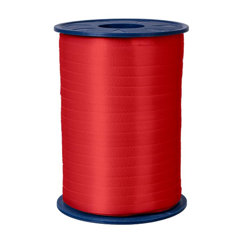 500m Ringelband 5mm Spule Kräuselband Geschenkband Polyband Dekoband Rot