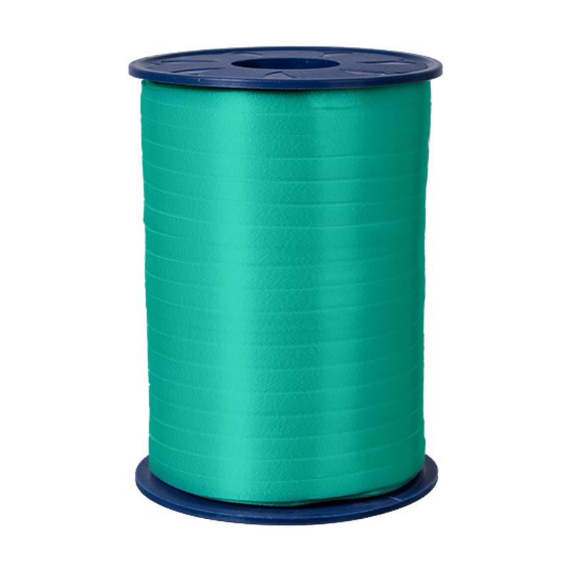 500m Ringelband 5mm Spule Kräuselband Geschenkband Polyband Dekoband Türkis