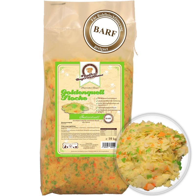 Premium Hundefutter Goldenquell Gemüse Flocke 10kg Pfeuffers Bayernschmaus