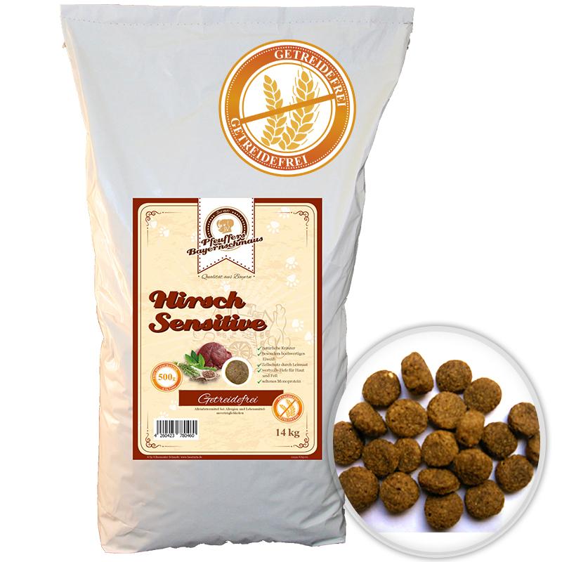 Premium Hundefutter Hirsch Sensitive Getreidefrei 14kg Pfeuffers Bayernschmaus