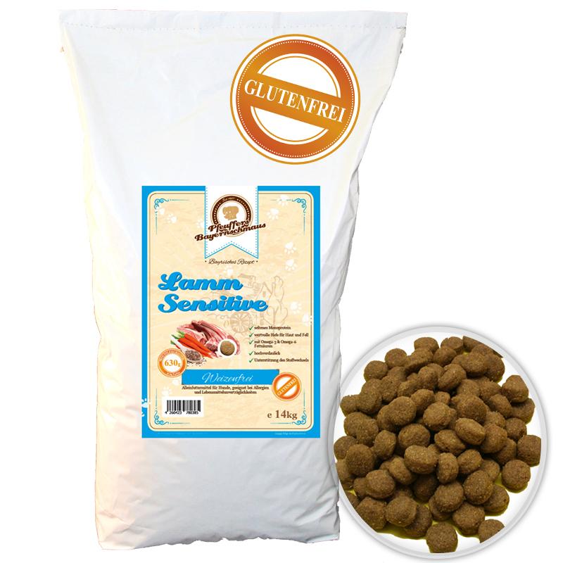 Premium Hundefutter Lamm Sensitive Getreidefrei 14kg Pfeuffers Bayernschmaus