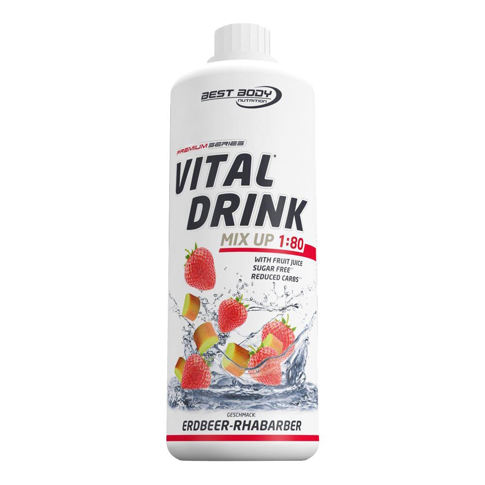 Rhabarber Mineraldrink Nutrition Getränkekonzentrat kalorienarmer Vital Drink 1L