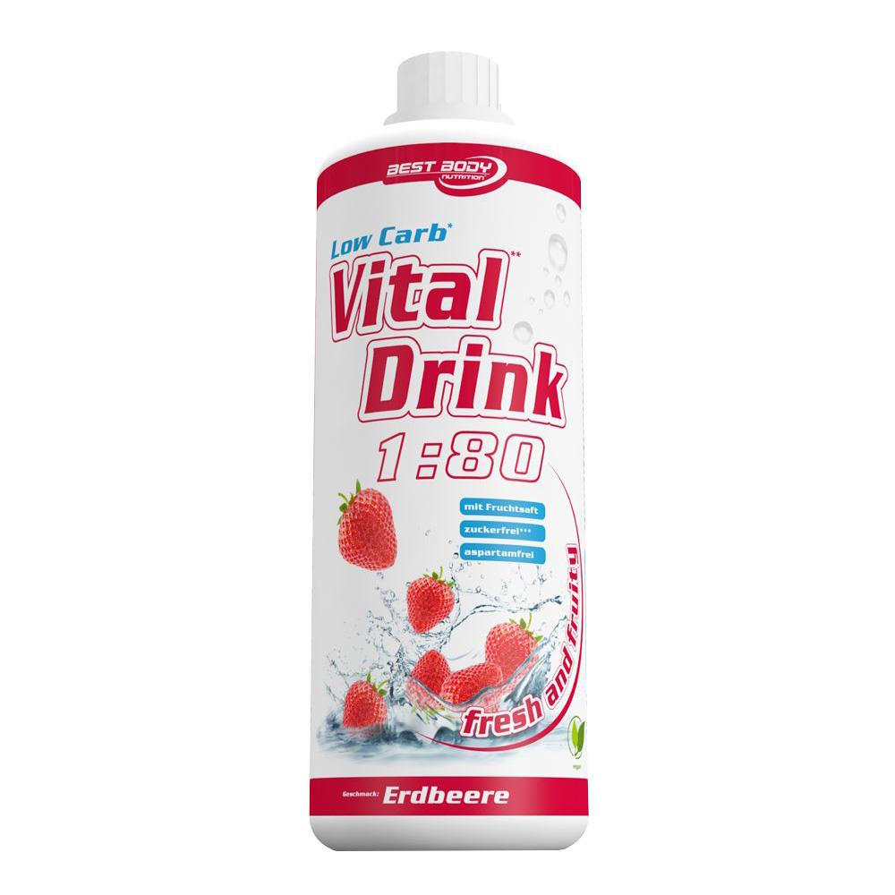 Erdbeere Mineraldrink Nutrition Getränkekonzentrat kalorienarmer Vital Drink 1L