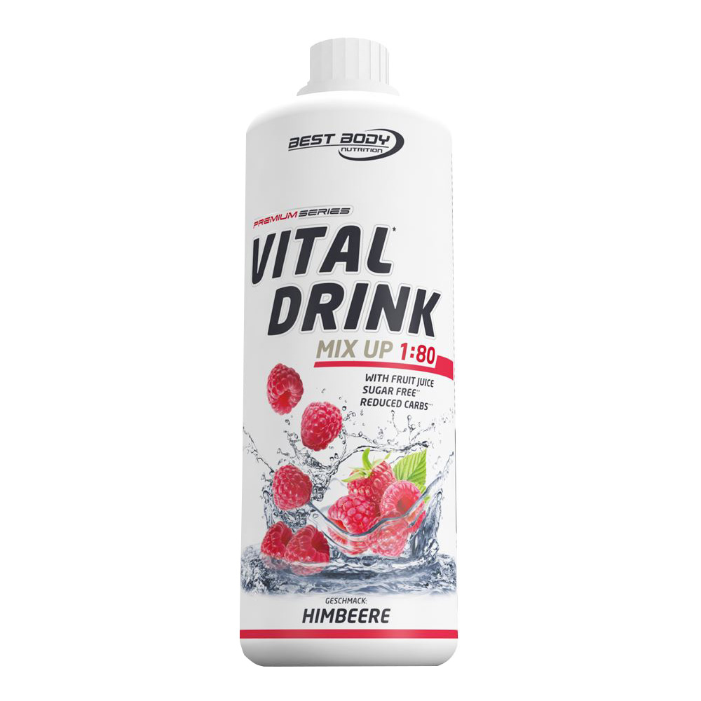 Himbeere Mineraldrink Nutrition Getränkekonzentrat kalorienarmer Vital Drink 1L