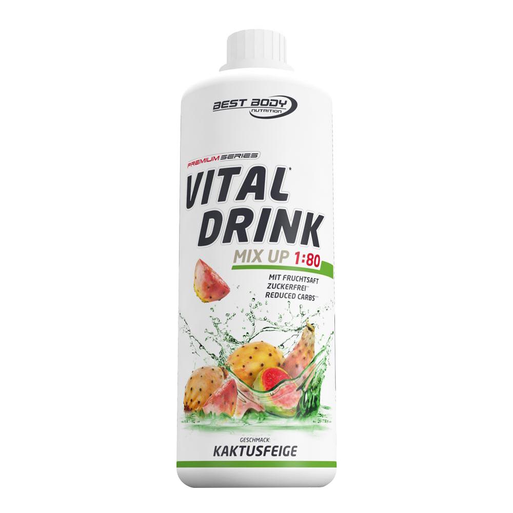Kaktusfeige Mineraldrink Nutrition Getränkekonzentrat kalorienarm Vital Drink 1L