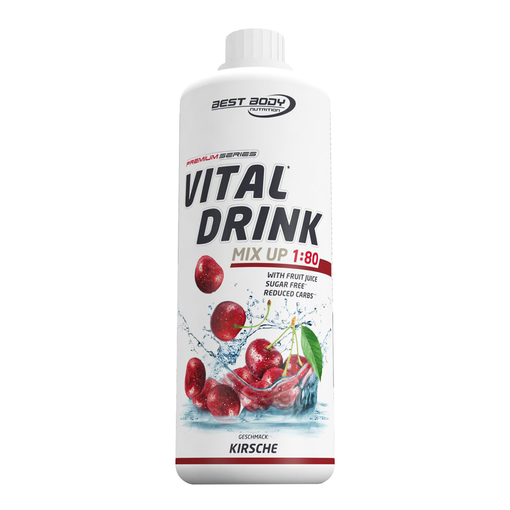 Kirsche Mineraldrink Nutrition Getränkekonzentrat kalorienarmer Vital Drink 1L
