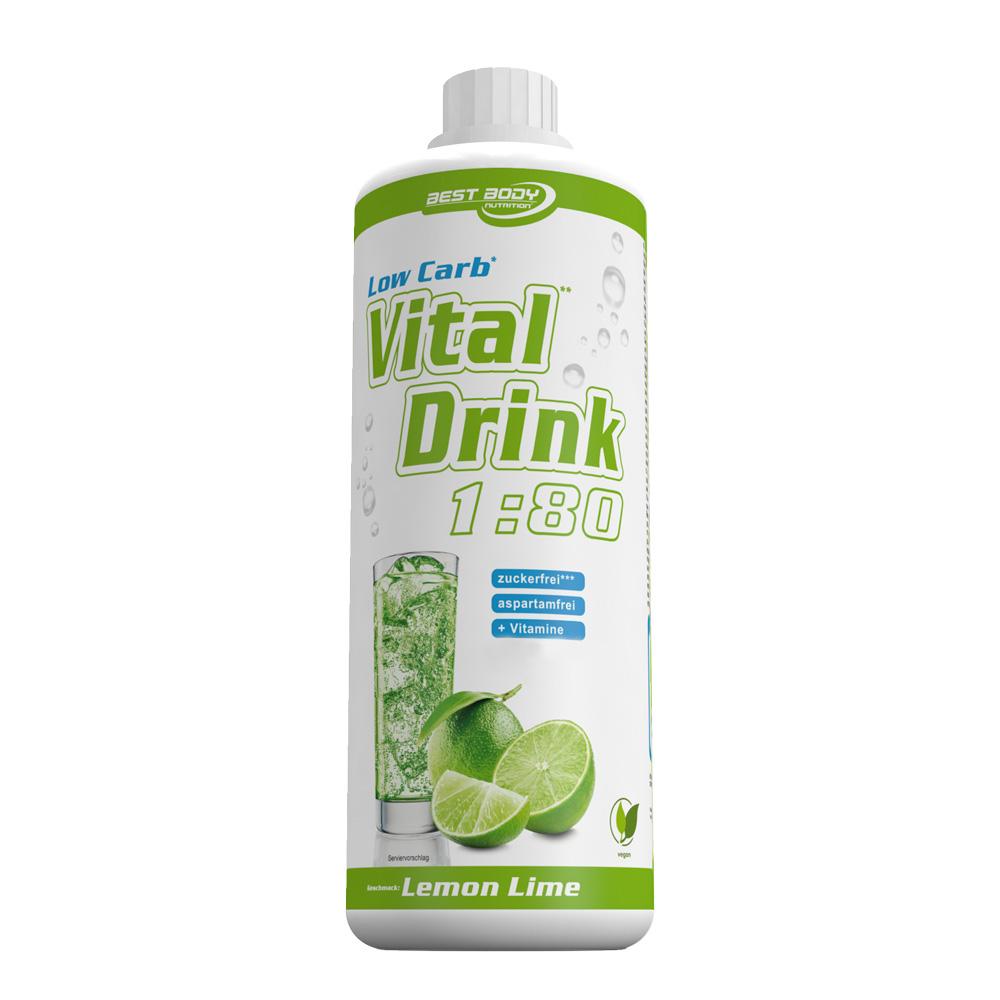Lemon Lime Mineraldrink Nutrition Getränkekonzentrat Vital Drink 1L