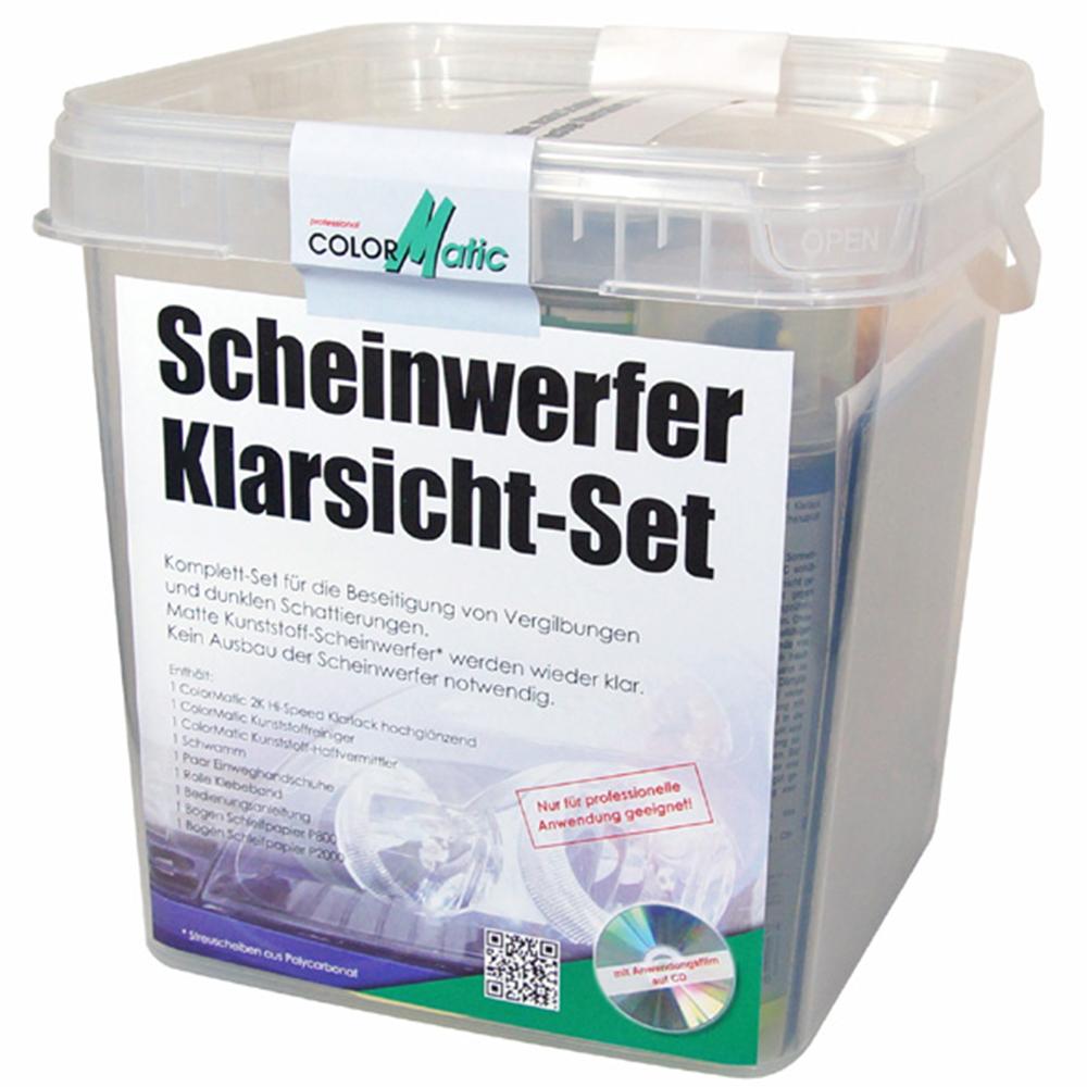 Colormatic Scheinwerfer Klarsicht Set Motip Scheinwerfer Reparatur Eimer 359248