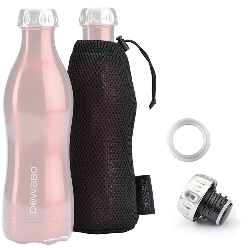 DOWABO Trinkflasche Wasserflasche Doppelwandig Edelstahl Isolierflasche Zubehör