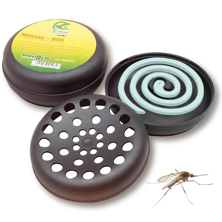 Brunner Sicherheitsbehälter für Antimückenspiralen Mückenspirale Moskito Camping