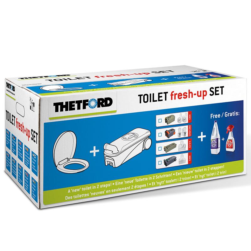 Thetford Toiletten Aufbereitung Fresh-Up-Set mit Rädern C200 C2 C3 C4 Camping