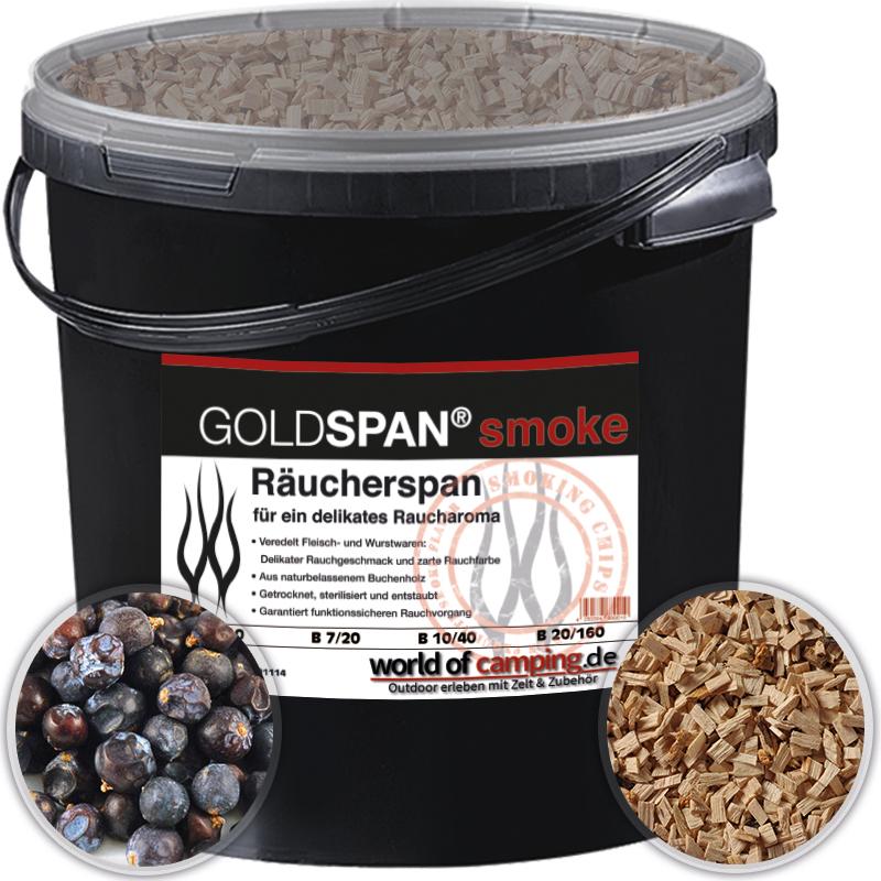 GOLDSPAN smoke B 10 / 40 5kg Räucherspäne Räuchern Räucherholz Wacholderbeeren