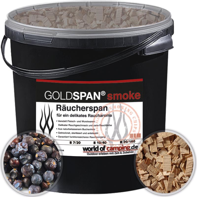 GOLDSPAN smoke B 20/160 5kg Räucherspäne Räuchern Räucherholz Wacholderbeeren