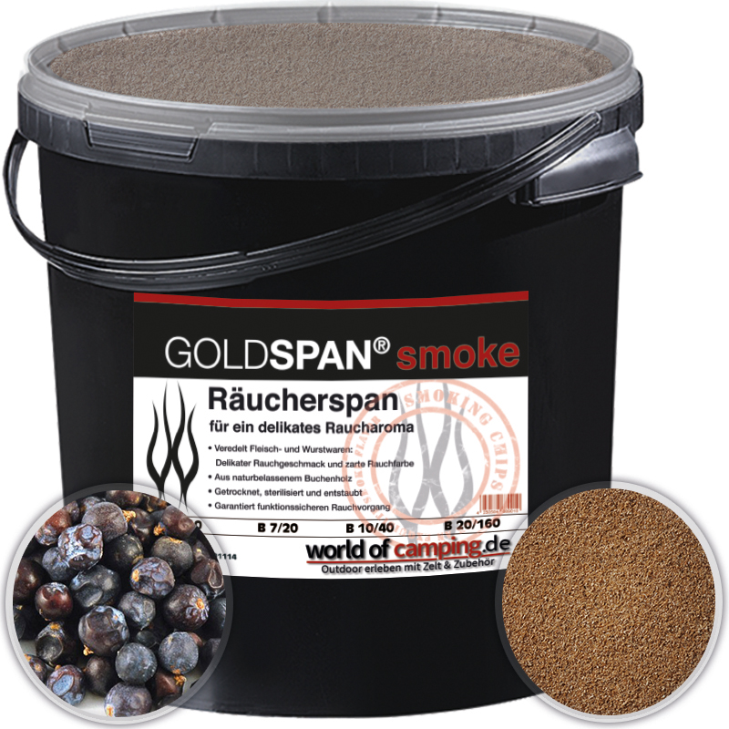 GOLDSPAN smoke B 5 / 10 5kg Räucherspäne Räuchern Räucherholz Wacholderbeeren