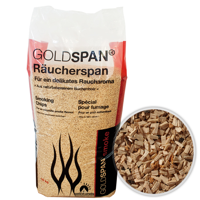 GOLDSPAN smoke B 10 / 40 Räucherspäne Räuchern Buche Räucherholz Smoking Chips