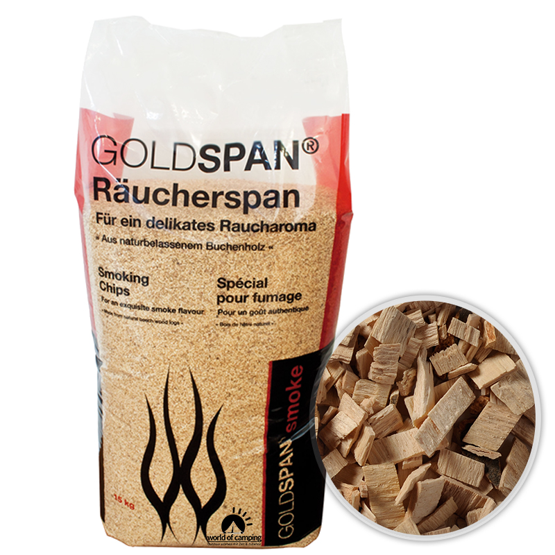 GOLDSPAN smoke B 20 / 160 Räucherspäne Räuchern Buche Räucherholz Smoking Chips