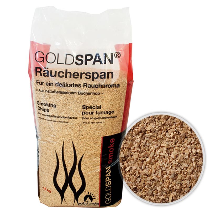 GOLDSPAN smoke B 7 / 20 Räucherspäne Räuchern Buche Räucherholz Smoking Chips