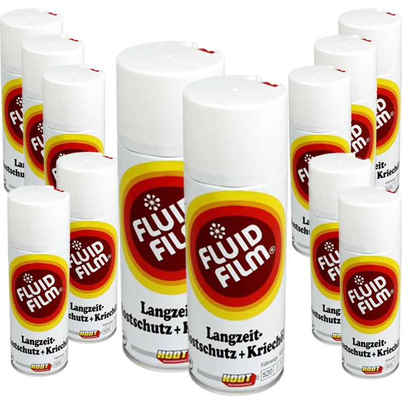 HODT Fluid Film 12x400ml Spraydose Langzeit Rostschutz Kriechöl Korrosionsschutz