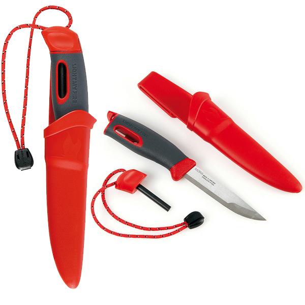 Light my Fire FireKnife(TM), Messer mit Zündstahl in rot