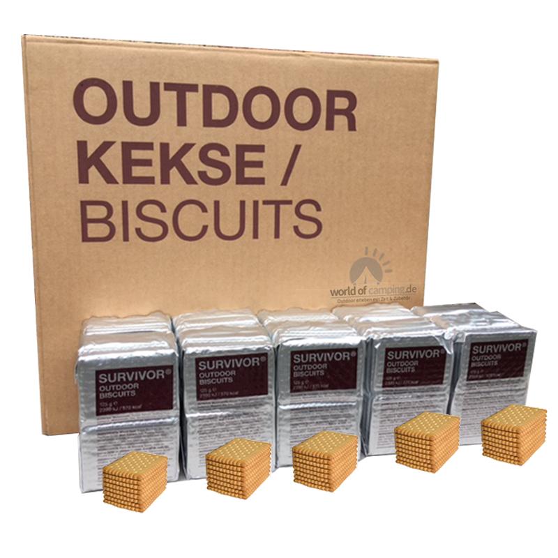 Notnahrung Outdoor Kekse 125 g Outdoorkekse Nahrung Hartkekse