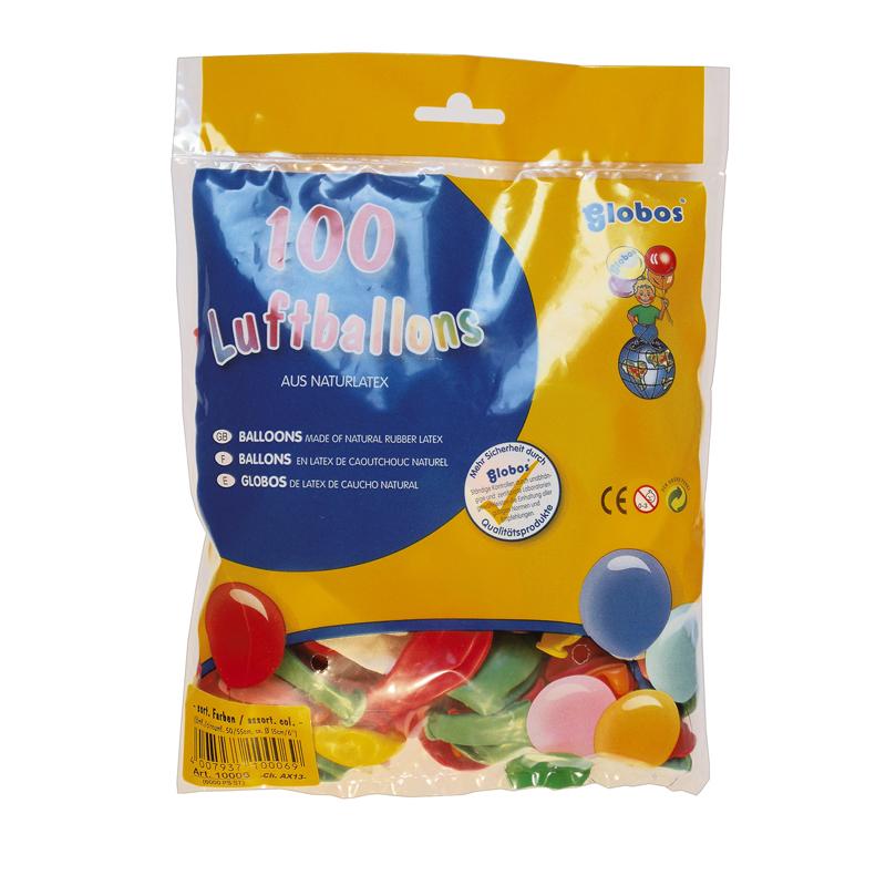 100x Luftballons Luftballon Partyballons ca. 50 cm Umfang BUNT für jeden Anlass
