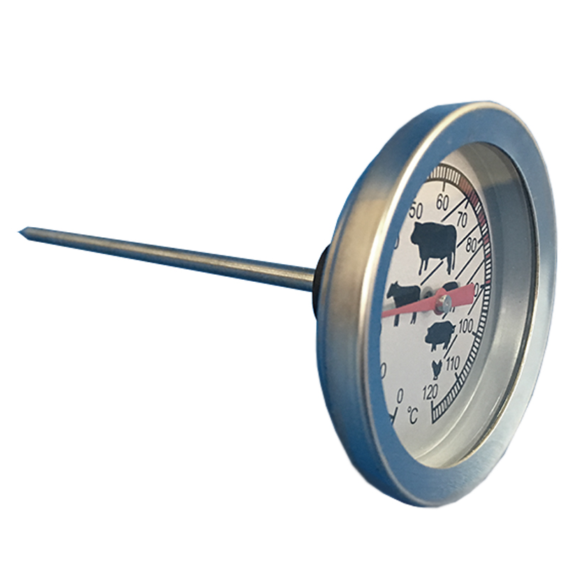 Edelstahl Räucherthermometer 0-120°C Thermometer Räucherofen Räucherzubehör