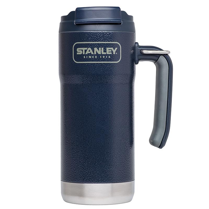 Stanley Adventure Vacuum Travel Mug 473 ml 18/8 Edelstahl navy Hammerschlaglack