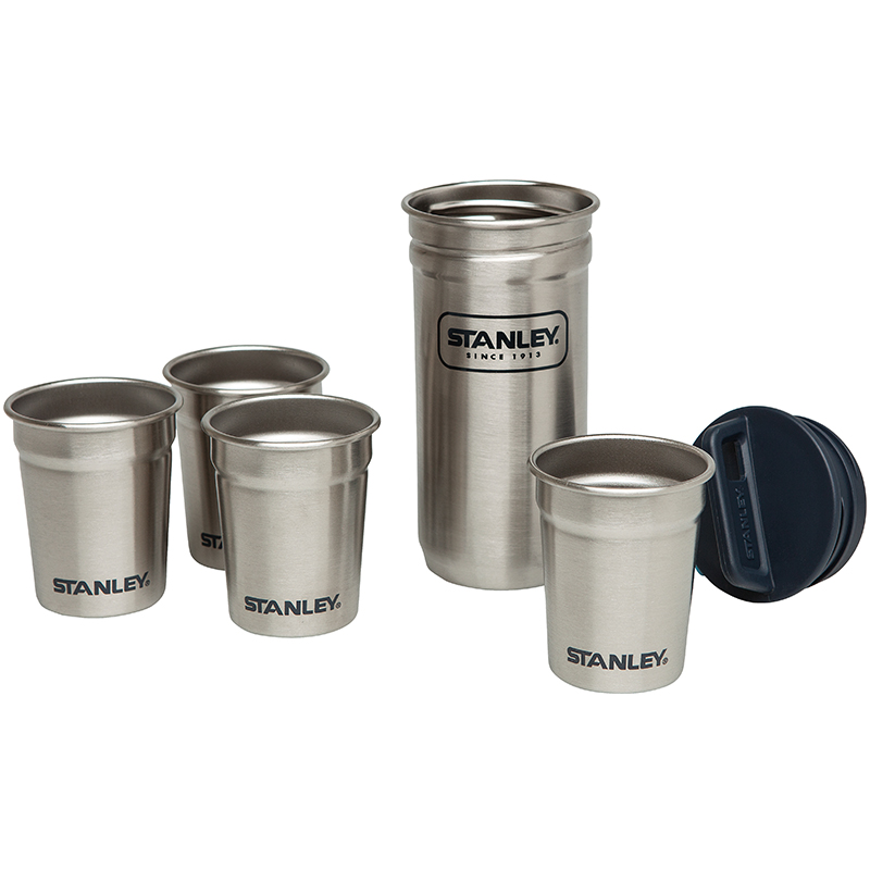 Stanley Steel Shot Glass Set 4 Becher je 59 ml 18/8 Edelstahl navyblau