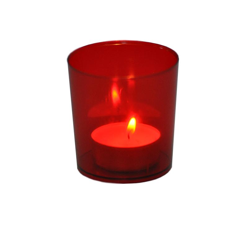 Lichterbecher 25 Stk rot Illuminationsbecher Teelicht Windlicht Teelichthalter
