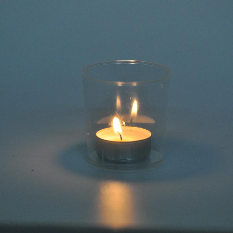Lichterbecher 25 Stk klar Illuminationsbecher Teelicht Windlicht Teelichthalter