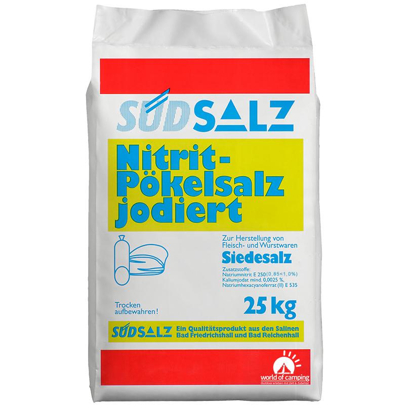 Profi Nitrit Pökelsalz jodiert 0,85<1,0% Siedesalz Pökeln Salz Nitritsalz 25kg