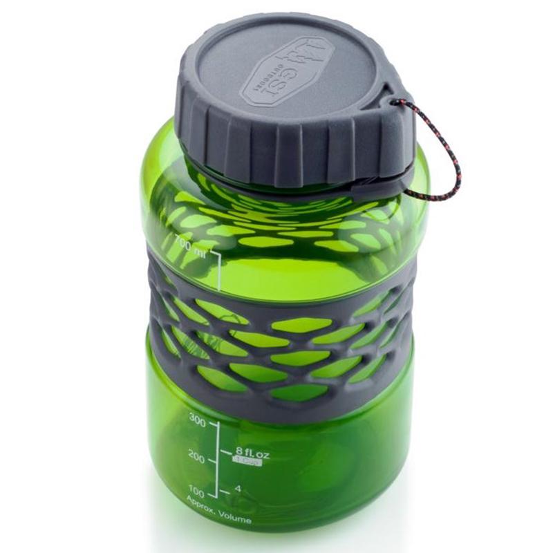 GSI DukJug 0,75 Liter Weithals Outdoorflasche Trinkflasche Wasserflasche grün