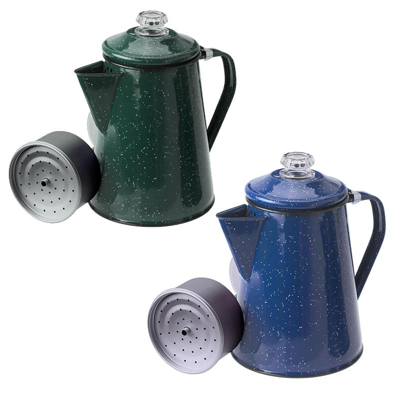 GSI Emaillierte Kaffeekanne Perkolator Outdoorkanne Teekanne Farbauswahl