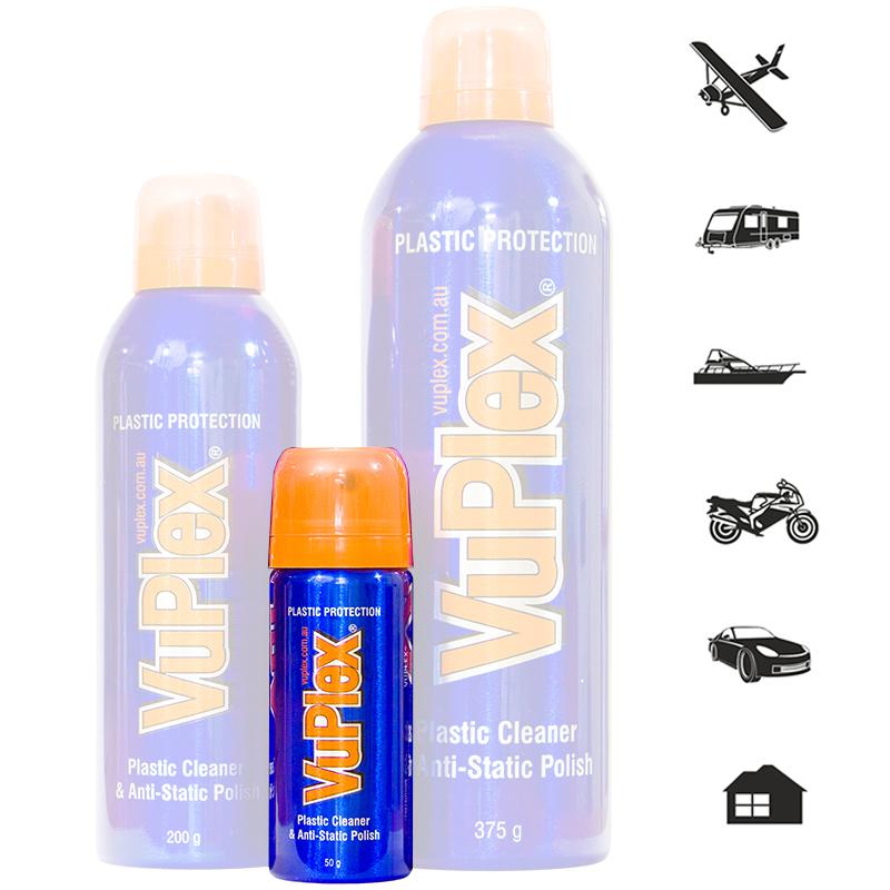 VuPlex Reiniger Kunststoffreiniger Fensterreiniger Camping Caravan Boot 50gr
